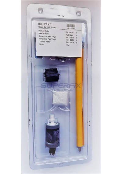 RKIT P3005; Roller Kit de Rolo de Manutenção HP P3005 - EMBALAG KIT