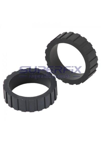 40x5440; Borracha Capa do Rolete Pickup Lexmark E260 / E360 / E460 / E462 / X264 / X363 / X364 / X463 / X464 / X466 - Bandeja Tray 2 - PAR